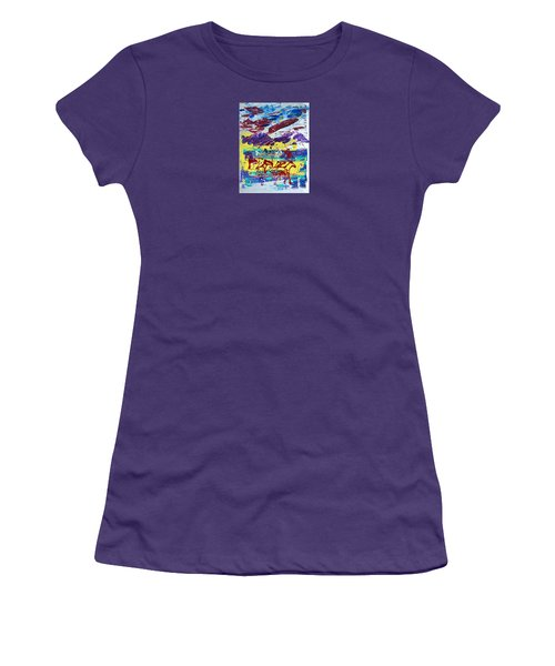 Green Pastures And Purple Mountains Women's T-Shirt (Athletic Fit)