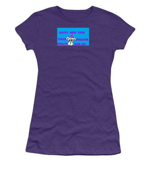 Happy New Year Women's T-Shirt (Junior Cut) by Linda Velasquez