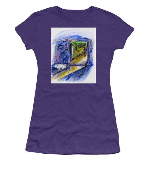 He Is Gone Women's T-Shirt (Junior Cut) by Clyde J Kell