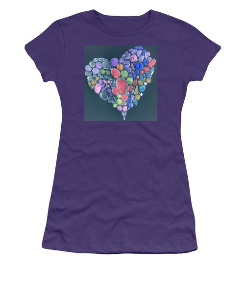 Heart Mosaic Women's T-Shirt (Athletic Fit)