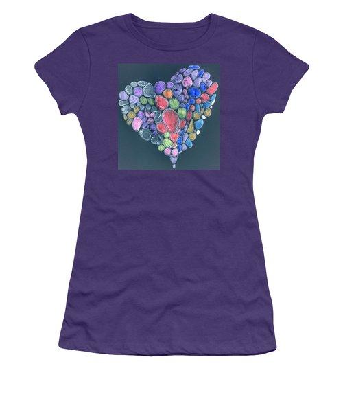 Heart Mosaic Women's T-Shirt (Athletic Fit)