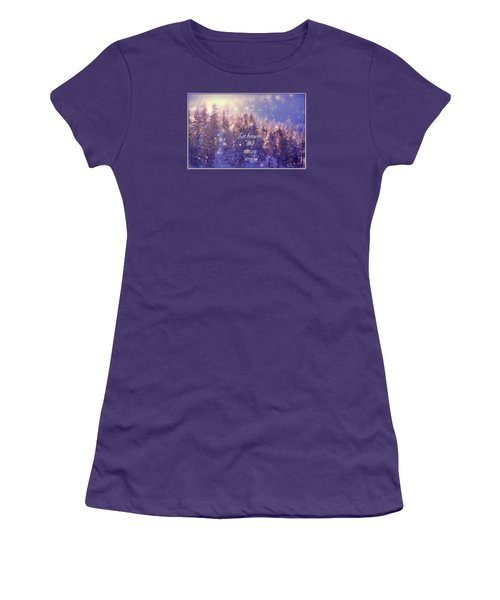 Women's T-Shirt (Junior Cut) featuring the photograph Heaven And Nature by Kathy Bassett