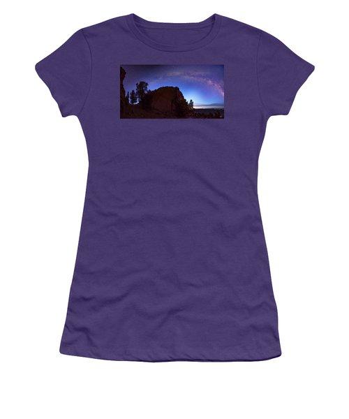 Women's T-Shirt (Junior Cut) featuring the photograph High Desert Dawn by Leland D Howard
