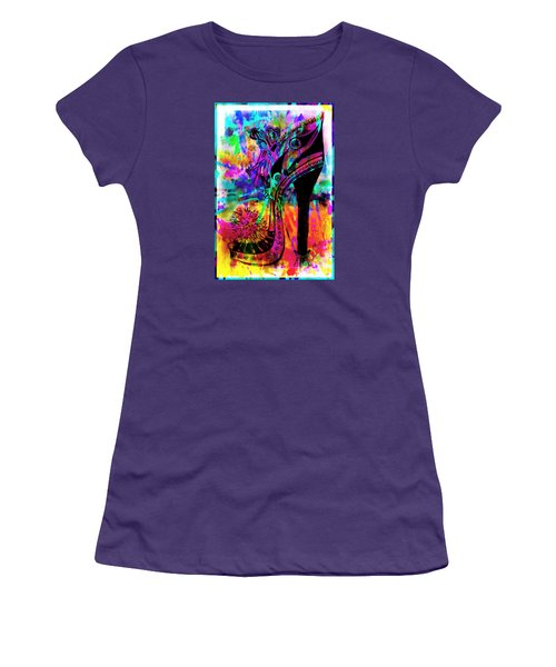 High Heel Heaven Abstract Women's T-Shirt (Athletic Fit)