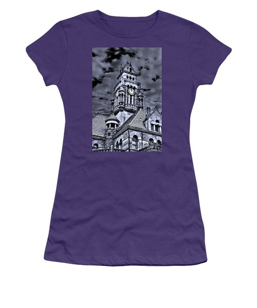 Women's T-Shirt (Junior Cut) featuring the photograph High Noon Black And White by Tamyra Ayles