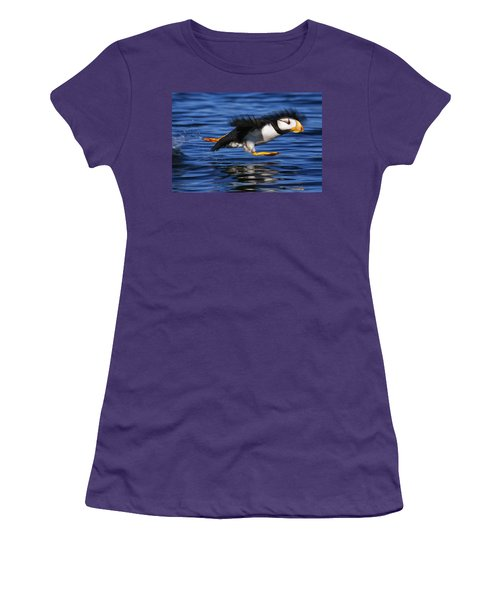Horned Puffin  Fratercula Corniculata Women's T-Shirt (Athletic Fit)