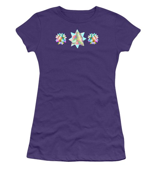 Horse Abstract Ribbon Bow Party Series Women's T-Shirt (Athletic Fit)