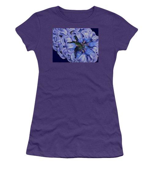 Hyacinth Curls Women's T-Shirt (Junior Cut) by Lynda Lehmann