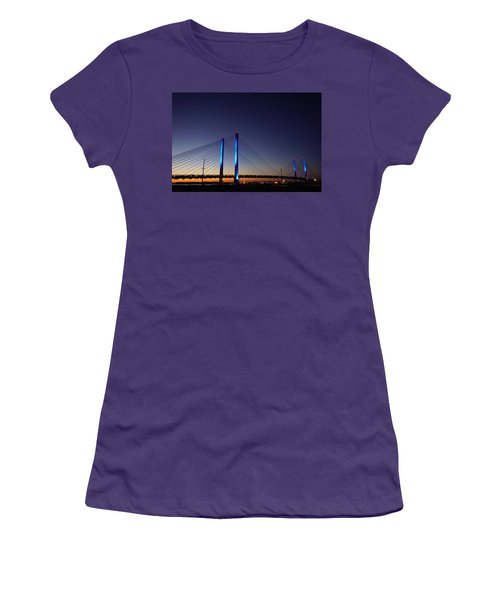 Women's T-Shirt (Athletic Fit) featuring the photograph Indian River Inlet Bridge by Ed Sweeney