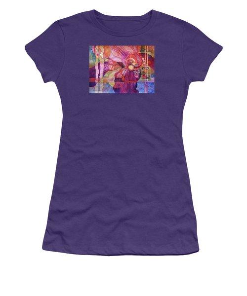 Iris Delight Women's T-Shirt (Junior Cut) by Lynda Hoffman-Snodgrass