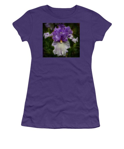 Women's T-Shirt (Athletic Fit) featuring the photograph Iris Standout by Jean Noren