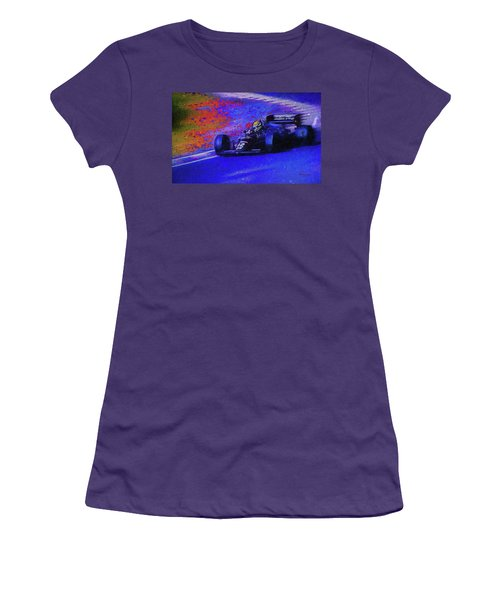 Women's T-Shirt (Junior Cut) featuring the mixed media John Player Special by Marvin Spates
