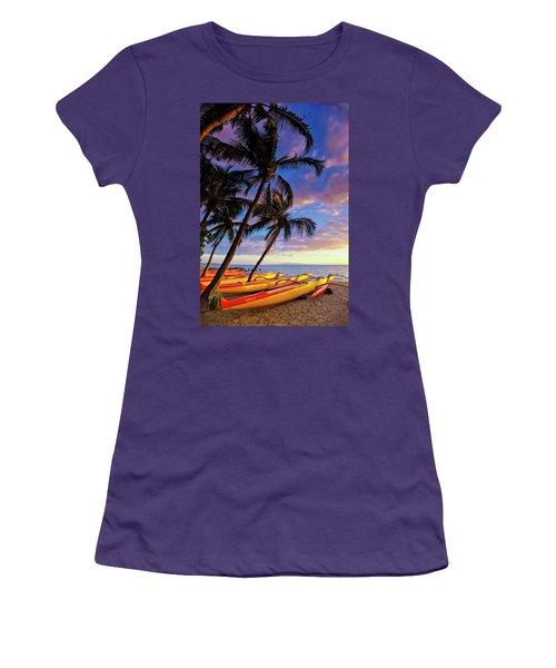Kihei Canoe Club Women's T-Shirt (Athletic Fit)