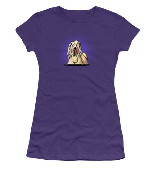 Kiniart Lhasa Apso Braided Women's T-Shirt (Athletic Fit)