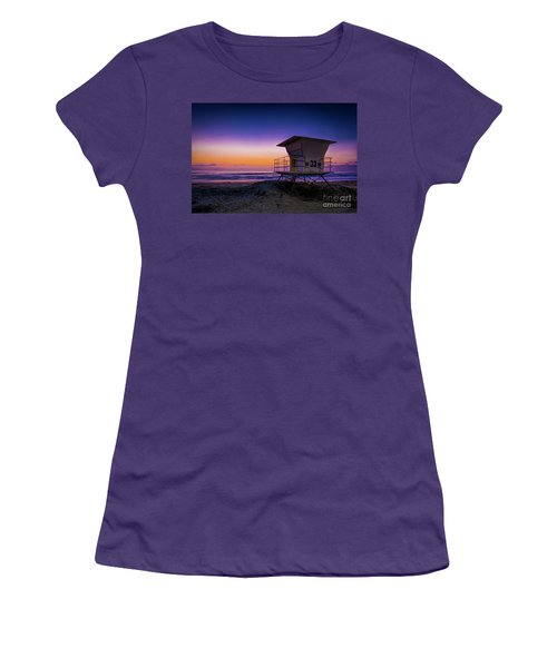 La Jolla Beach Sunset Women's T-Shirt (Athletic Fit)