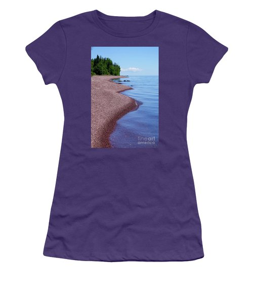 Lakewalk On The Superior Hiking Trail Women's T-Shirt (Junior Cut) by Sandra Updyke