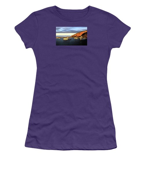 Women's T-Shirt (Athletic Fit) featuring the photograph Last Rays At The Bay by Nareeta Martin
