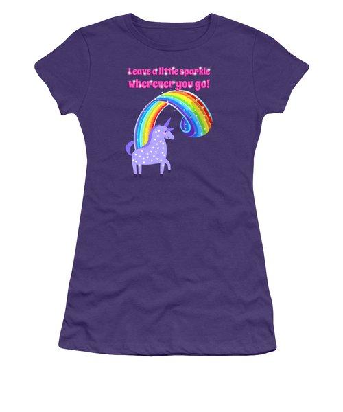 Leave A Little Sparkle Wherever You Go Women's T-Shirt (Junior Cut) by Little Bunny Sunshine