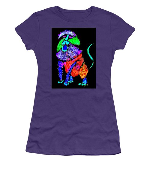 Leo, Rampant -- Negative Version Women's T-Shirt (Athletic Fit)