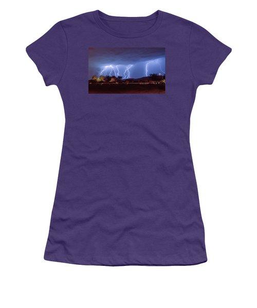 Lightning Over Laveen Women's T-Shirt (Junior Cut) by Kimo Fernandez