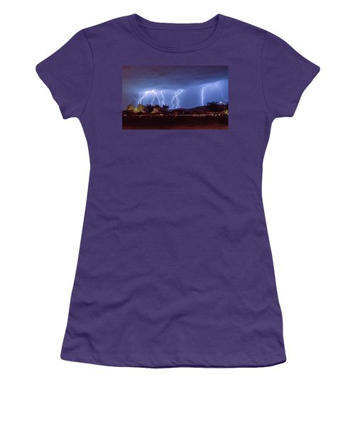 Lightning Over Laveen Women's T-Shirt (Athletic Fit)