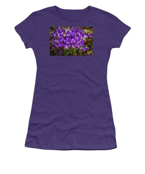 Lilac Crocus #g2 Women's T-Shirt (Junior Cut) by Leif Sohlman