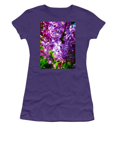 Women's T-Shirt (Junior Cut) featuring the photograph Lilac In The Sun by Julia Wilcox