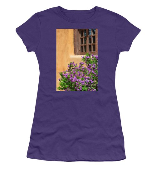 Lilacs And Adobe Women's T-Shirt (Junior Cut) by Catherine Sherman
