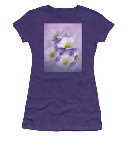 Women's T-Shirt (Junior Cut) featuring the photograph Lisianthus Grouping by David and Carol Kelly