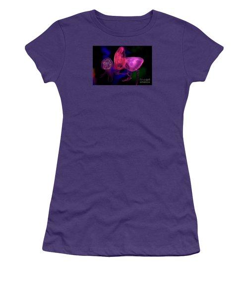 Women's T-Shirt (Junior Cut) featuring the photograph Lit Jellies  by Gary Bridger