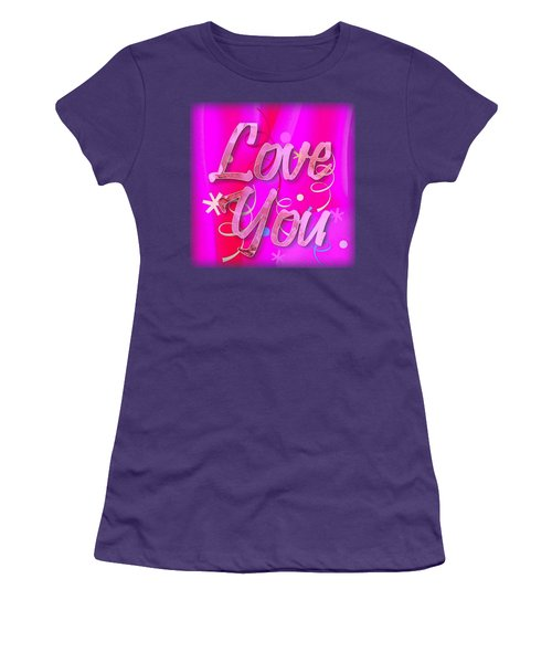 Love You Pink Cushion Women's T-Shirt (Athletic Fit)