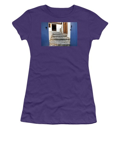 Mediteranean Old House Women's T-Shirt (Athletic Fit)