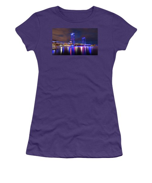 Women's T-Shirt (Junior Cut) featuring the photograph Memorial Bridge by Robert Clifford