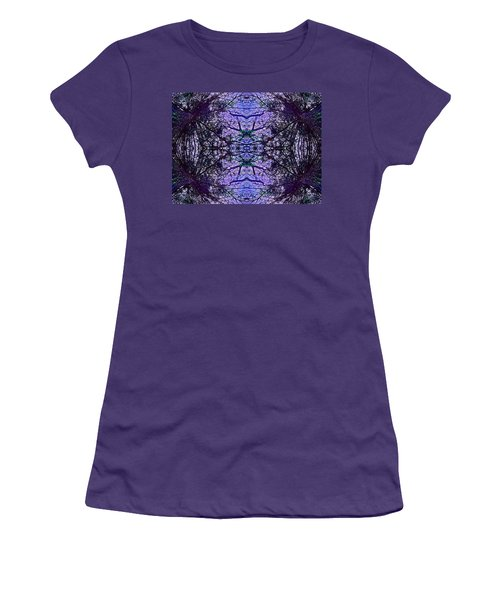 Mesmerized By Blue Women's T-Shirt (Junior Cut) by Joy Nichols