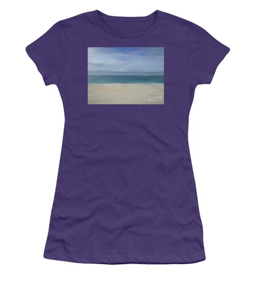 Women's T-Shirt (Athletic Fit) featuring the photograph Minimal Beach by Andrea Anderegg