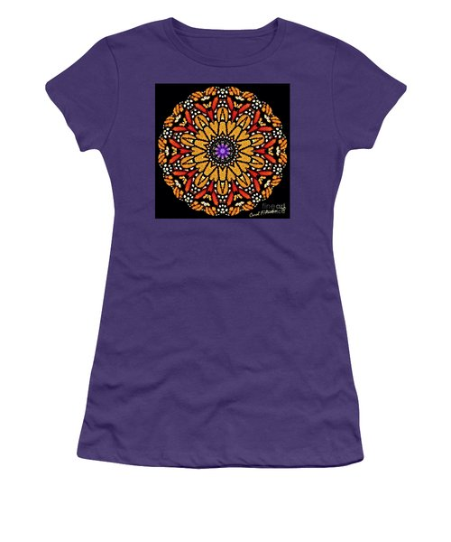 Monarch Butterfly Wings Kaleidoscope Women's T-Shirt (Athletic Fit)