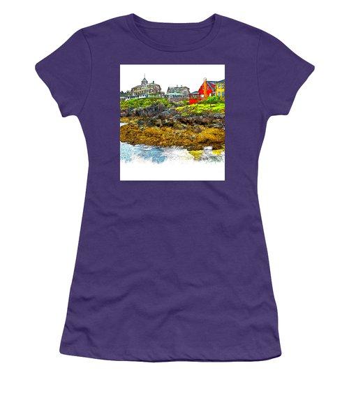Monhegan West Shore Women's T-Shirt (Athletic Fit)