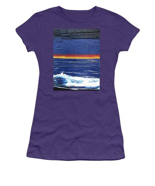 Moonlit Seascape Women's T-Shirt (Athletic Fit)