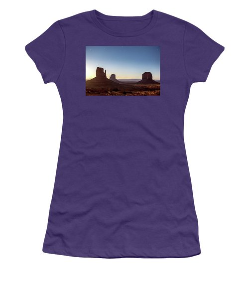 Moonrise Over Monument Valley Women's T-Shirt (Athletic Fit)