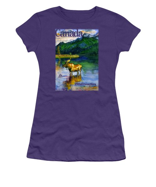Moose In Canada Shirt Women's T-Shirt (Athletic Fit)