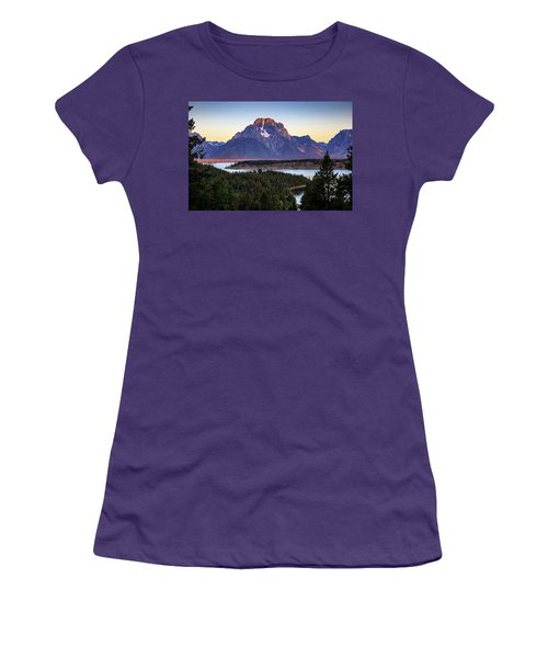 Women's T-Shirt (Junior Cut) featuring the photograph Morning At Mt. Moran by David Chandler