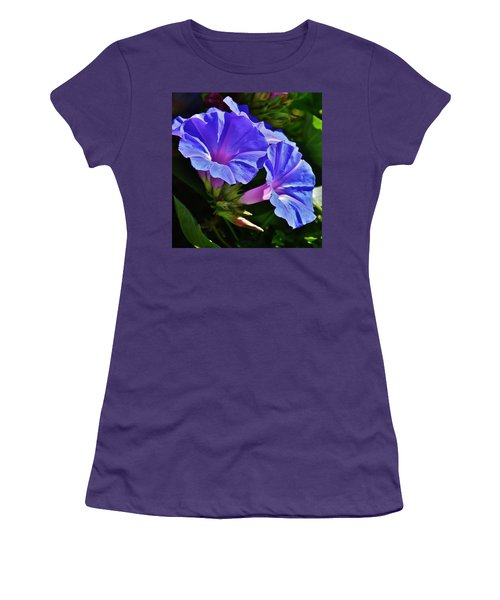 Morning Glory Flower Women's T-Shirt (Athletic Fit)