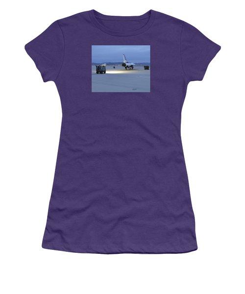 Women's T-Shirt (Junior Cut) featuring the digital art Morning Go by Walter Chamberlain