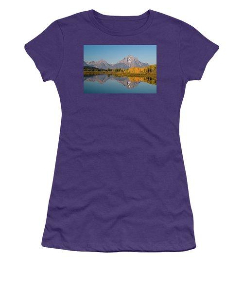 Women's T-Shirt (Junior Cut) featuring the photograph Mount Moran by Steve Stuller