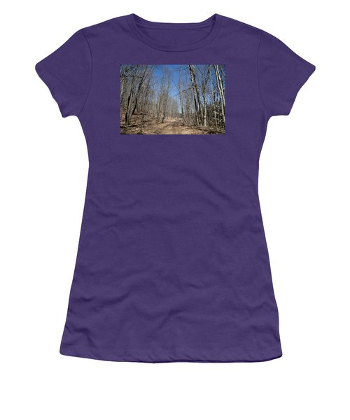 Women's T-Shirt (Junior Cut) featuring the photograph Mud Season In The Adirondacks by David Patterson