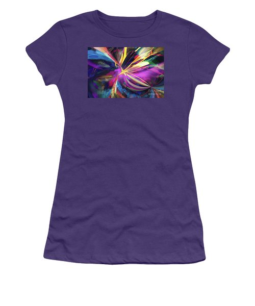 Women's T-Shirt (Athletic Fit) featuring the digital art My Happy Place by Margie Chapman