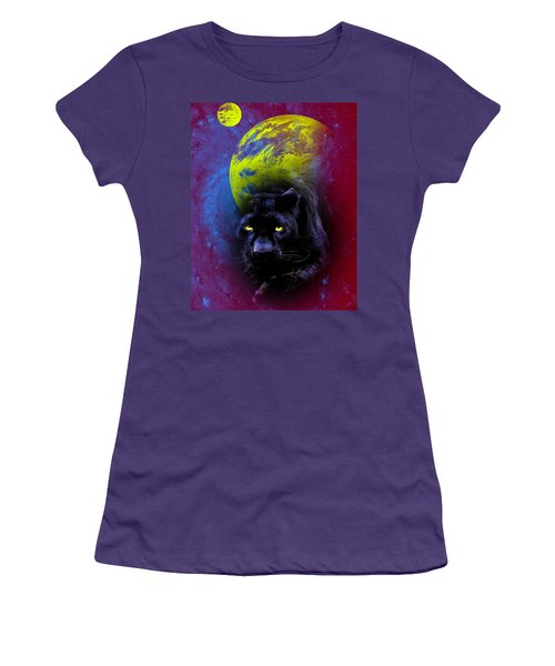 Nebula's Panther Women's T-Shirt (Athletic Fit)
