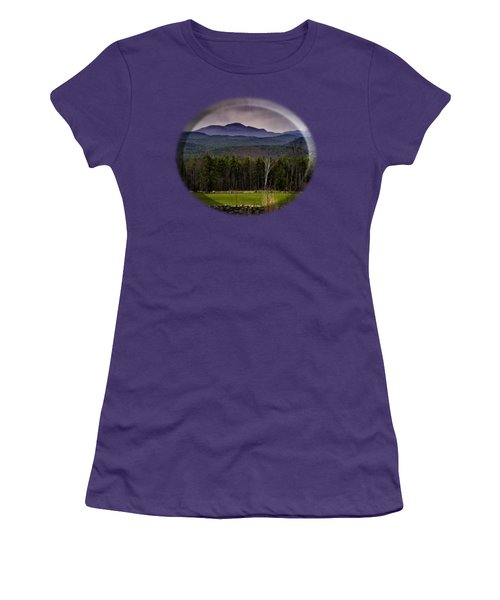 Women's T-Shirt (Junior Cut) featuring the photograph New England Spring In Oil by Mark Myhaver