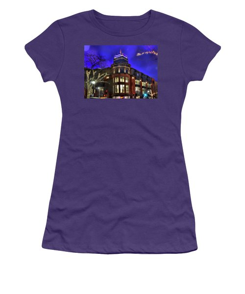 Women's T-Shirt (Junior Cut) featuring the photograph Newbury Street And The Prudential - Back Bay - Boston by Joann Vitali