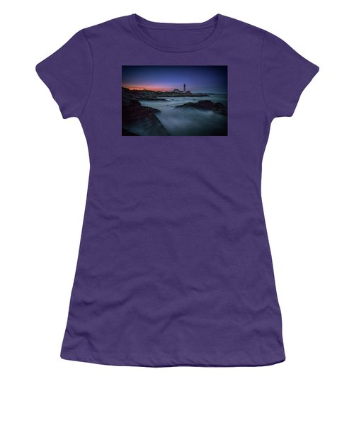 Women's T-Shirt (Athletic Fit) featuring the photograph Night Falls On Portland Head by Rick Berk